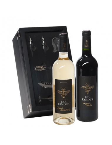 Wijncadeau Famous bee luxe 2x75cl