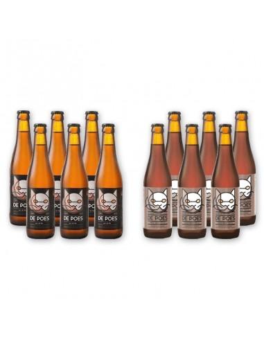 Bierpakket De poes duo 12x33cl